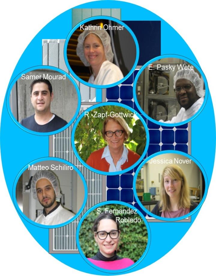 Gruppe Industrielle Solarzellen